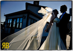 Love on the Docks (Ryan Brenizer) Tags: wedding love silhouette newjersey nikon jerseycity august noflash gothamist 2008 d3 shipyards 2470mmf28g eveanddan
