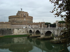 Castle and bridge (cdfzer) Tags: bridge italy rome castle water river mausoleum tiber hadrian castel castelsantangelo rivertiber hadriansmausoleum portesantangelo