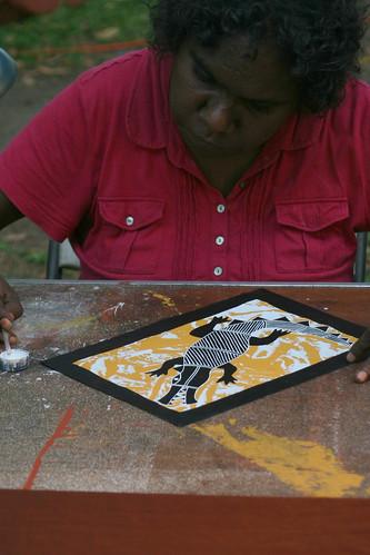Indigeneous artist Mindil Beach
