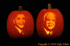 Obama and McCain Pumpkin Portraits by the Pumpkin Lady (CritterQueen) Tags: halloween election carving pumpkincarving candidates barackobama johnmccain 2008presidentialelection pumpkinportraits presidentialcandidates mywinners abigfave impressedbeauty crystalaward betterthangood pumpkinladycom critterqueen explore~10282008 echolsphotography kyleechols thepumpkinlady lisaberberette