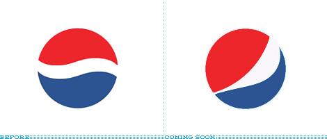 Antiguo versus nuevo logo de Pepsi