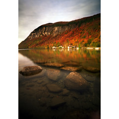 Lake Willoughby, 45 seconds (Zeb Andrews) Tags: autumn lake fall film water landscape vermont newengland pinhole zeroimage pinscape zero69 lakewilloughby bluemooncamera zebandrews zebandrewsphotography