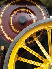 Steam Engine detail Welland Steam Rally (Katie-Rose) Tags: uk red wheel yellow steam worcestershire welland steamengine katierose canonpowershota700 seeninexplore wellandsteamrally