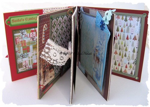 "6"" x 6"" Christmas Chipboard Mini Album"