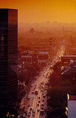 College Street, Toronto (josullivan.59) Tags: sunset toronto 1987 kodachrome