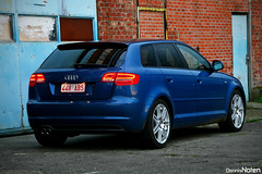 Audi A3 Sportback 1.8TFSI. (Denniske) Tags: blue digital canon eos rebel hp blauw optical sigma os aruba a3 pk dennis blau 18 audi 18200 exclusive 160 noten bhp sline carspotting stabilizer 18200mm sportback 3563 f3563 xti tfsi 400d denniske dennisnoten