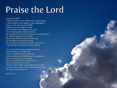 Praise the Lord Psalm 111 Worship background v.2 (Brian A Petersen) Tags: sky clouds worship display background brian lord bible 111 praise ppt psalm petersen esv bpbp brianpetersen brianapetersen