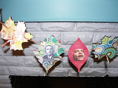 obama garland detail. (stephiblu) Tags: november autumn party guests fun nj montclair 2008 autumnball autumnball2008 tichenortichenors