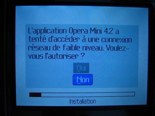 Télécharger et installer Opera Mini sur Blackberry Curve 8310 06