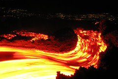 Etna in motion (Thomas Reichart ) Tags: oktober nature landscape volcano lava october glow nightshot great sicily 2008 etna eruption forces nachtaufnahme vulkan longtimeexposure sizilien lavaflow vulkane glhen ausbruch tna lavastrom naturaldesaster