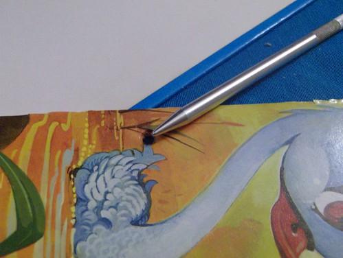 cuaderno agujerear