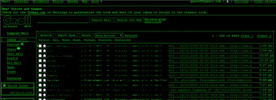 gmail theme terminal
