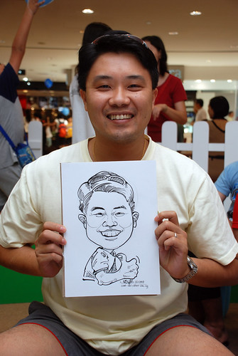 caricature live sketching for West Coast Plaza day 2 - 5