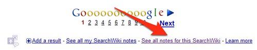 SearchWiki Public Notes