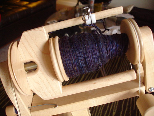purple merino on bobbin