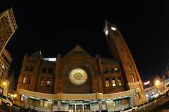 Indy Photo Coach - Union Station Indianapolis (Serge Melki) Tags: photoshop photo coach outdoor indianapolis indy indiana class nightshots unionstation serge melki d300 105mmf28gfisheye nationalregisterofhistoricplaces capturenx indianapolisunionstation indyphotocoach indianapolisunionrailway