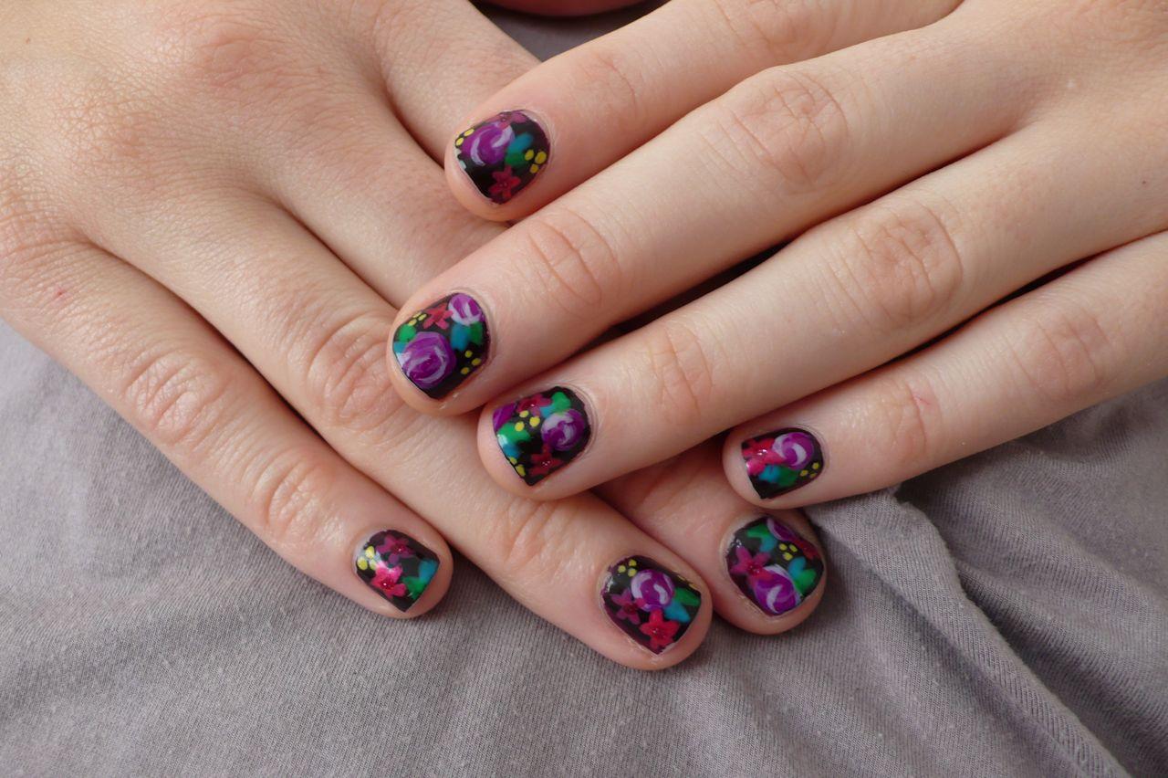 nail designs dark style
