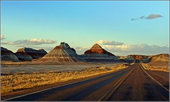 on the road in Arizona (Z Eduardo...) Tags: arizona sky mars usa mountain southwest colors clouds landscape nationalpark rocks desert az painteddesert ontheroad fourcorners petrifiedforest blueribbonwinner mywinners abigfave superaplus aplusphoto platinumheartaward theperfectphotographer