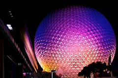 Disney - Spaceship Earth at Night