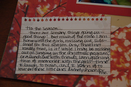 "Journalling for ""tis the season"""