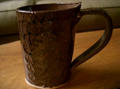 Hand-Built Oval Mug