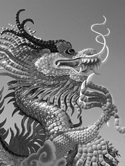 black and white.... (.KrIsTiNe) Tags: nature colors thailand asia north chinese parks statues dragons sawanpark nakhonsawanthai