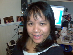 Morning me with new bangs!