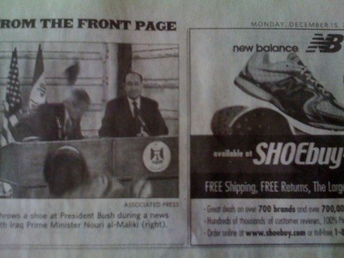 The Arizona Republic made an interesting ad placement
