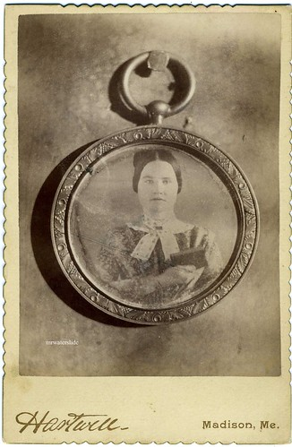 2008 Top One Hundred Countdown # 3: Cabinet Card---Woman Holding A Book Photographed In A Locket