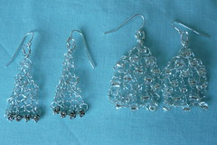 Knitted wire earrings