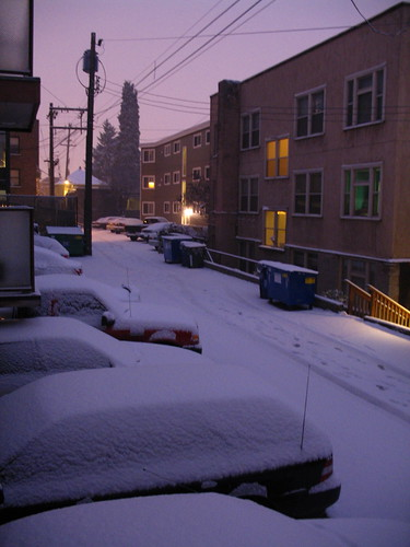 snow at 7:20 am