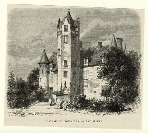 003- Castillo de Coulaines --XVe siècle. (1856)