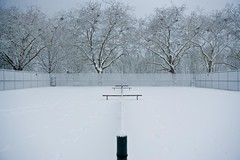 (pete soos) Tags: snow vancouver stanleypark tenniscourt