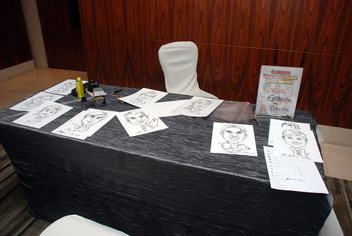Caricature live sketching for Ezra Holdings 10