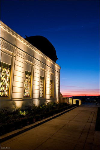 Saturated colors at Griffith Park Observatory