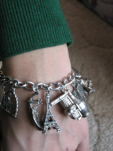 081225. charm bracelet from my great-great-aunt.