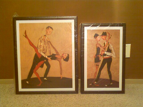 Tango lithos framed & still in plastic.