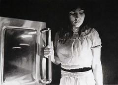 Mercedes Helnwein - Oven Door (Julien Bouvier) Tags: noiretblanc crayon mercedeshelnwein