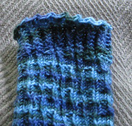 waterfall sock cuff detail
