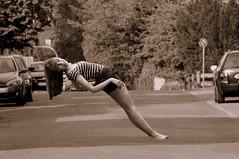 like magic (dancing to dawn) Tags: girl sepia magic streetlife montage