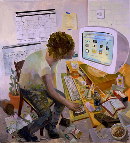 dana schutz self portrait browsing google