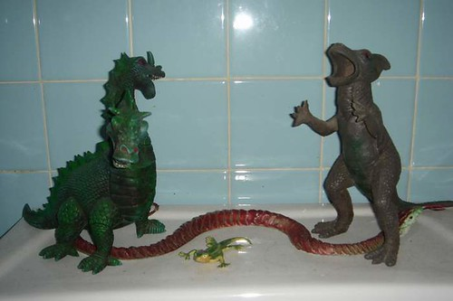 Bathroom Dinosaurs 16/365