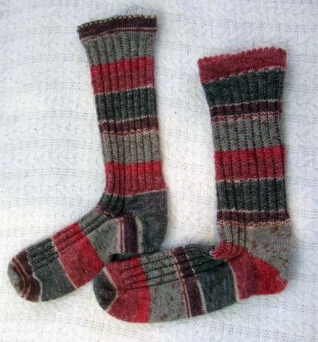 Garter Rib socks from SKS