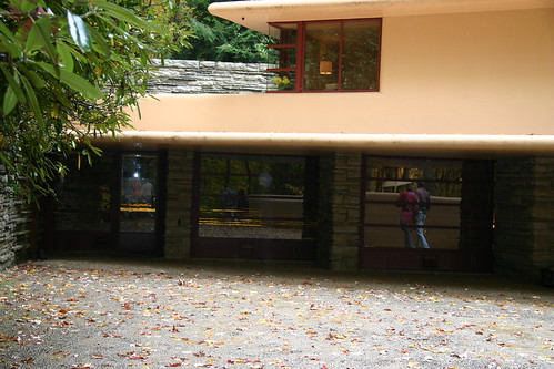 Wright's Fallingwater car port