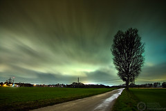 (Andreas Reinhold) Tags: road longexposure storm tree green weather night dark country emma bergischesland greenish mettmann andreasreinhold