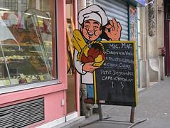 Porte-menu Mic-Mac (destempsanciens) Tags: menu pain reflet boulangerie urbex glaneuse portemenu