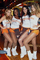 The Hooters Girls Pose Again (BuccaneerBoy) Tags: girls hot beautiful pretty legs florida hooters saturday babes hotgirls hotlegs ocala hootersgirls hootergirls ocalahooters