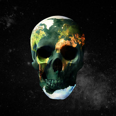 Earth Is Dying (Sebastian Niedlich (Grabthar)) Tags: world photoshop manipulated death skull earth photoshopped manipulation manip photoshopping earthday grabthar sebastianniedlich freakingnews