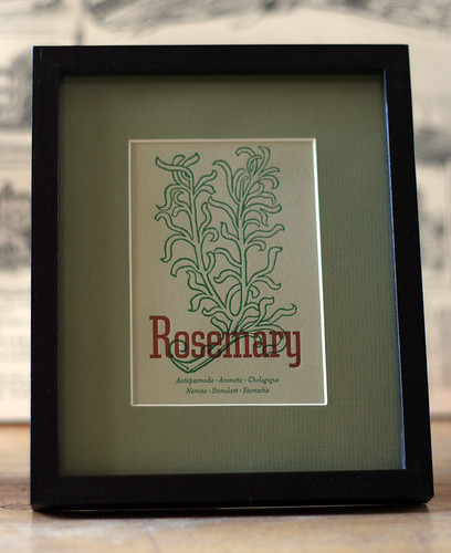 Rosemary card, framed