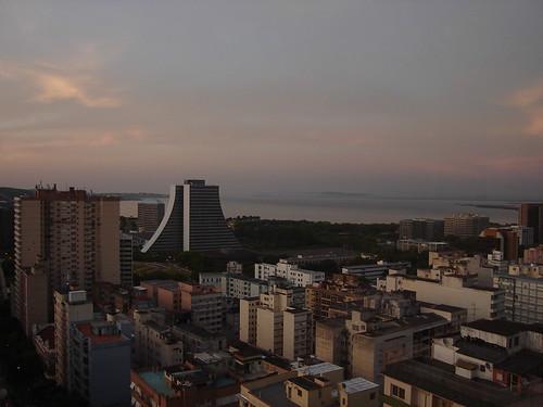 Vista do hotel em Porto Alegre